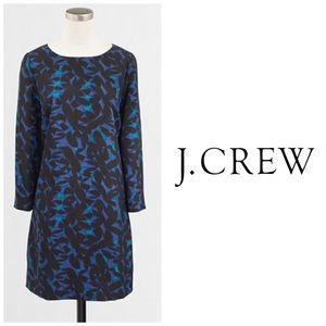 J Crew Floral Print Gallery Shift Dress